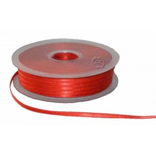 Cinta para bordado roja 3 mm 1 metro