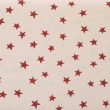 Tela patchwork beige estrellas granate