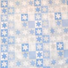 Tela patchwork estrellas azul