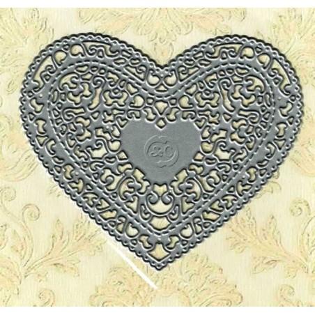 Troquel framelit corazon vintage
