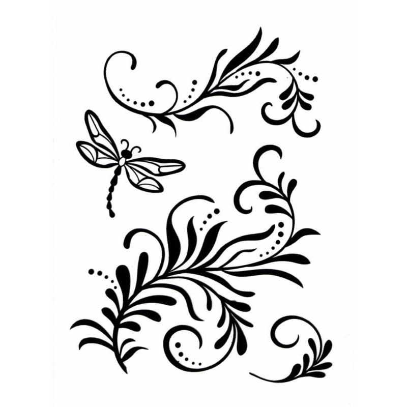 Sello silicona Ramas y libelula