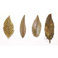 Plumas de metal bronce