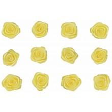 Flores de tela amarillas 12 mm 12 unidades