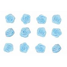 Flores de tela aazul 12 mm 12 unidades