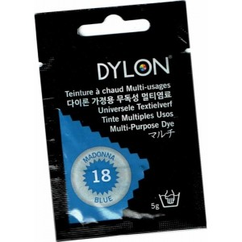 Tinte multiuso Dylon, 5 gr color azul madona nº 18