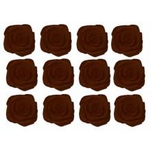 Flores de tela marron oscuro 12 mm 12 unidades