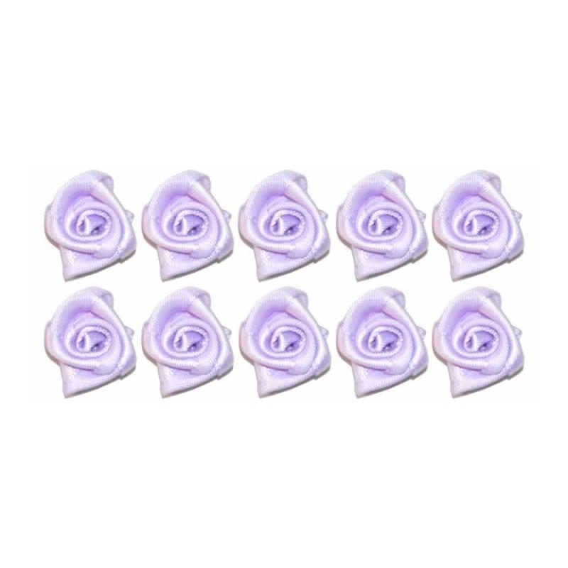 Flores de tela moradas 2 cm 10 unidades