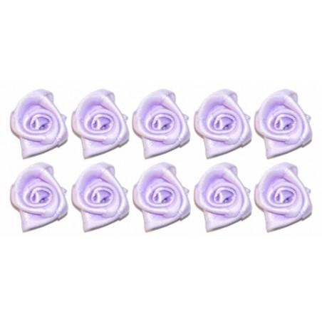 Flores de tela malvas 2 cm 10 unidades