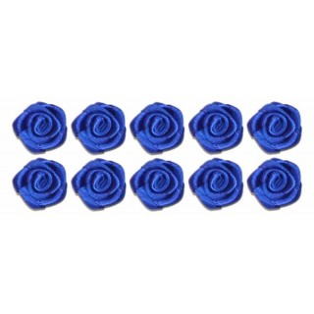 Flores de tela azulon 2 cm 10 unidades