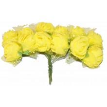 Ramo de flores de goma eva amarillas