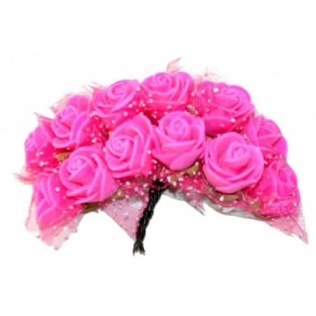 Ramo de flores de goma eva fucsia