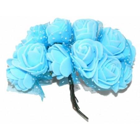 Ramo de flores de goma eva azules