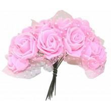 Ramo de flores de goma eva rosa