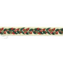 Cinta Navidad bordada Acebo, 3cm