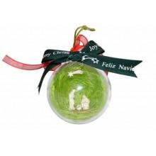 Pesebre de belen en miniatura montado en bola