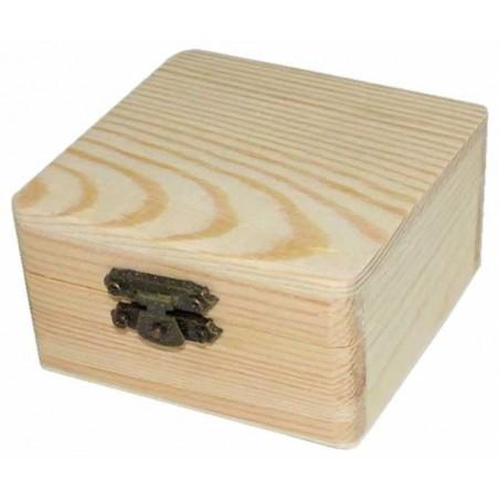 Caja de madera de pino 8 x 8 cm
