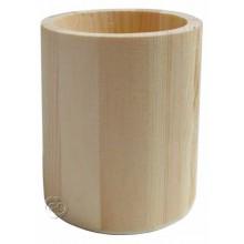 Porta lapices de madera redondo