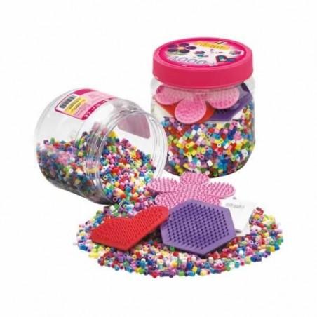 Hama Beads bote de 4000 piezas y placas de montaje