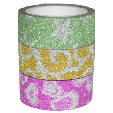 Washi tape glitter pack de 3 unidades N 24