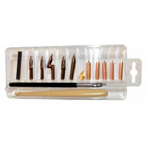 Set de plumillas para caligrafia WILLIAM MITCHELL G35902