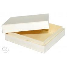 Caja de madera con tapa 9 x 9 x 3 cm