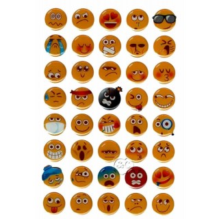 Emoticonos adhesivos 40 unidades