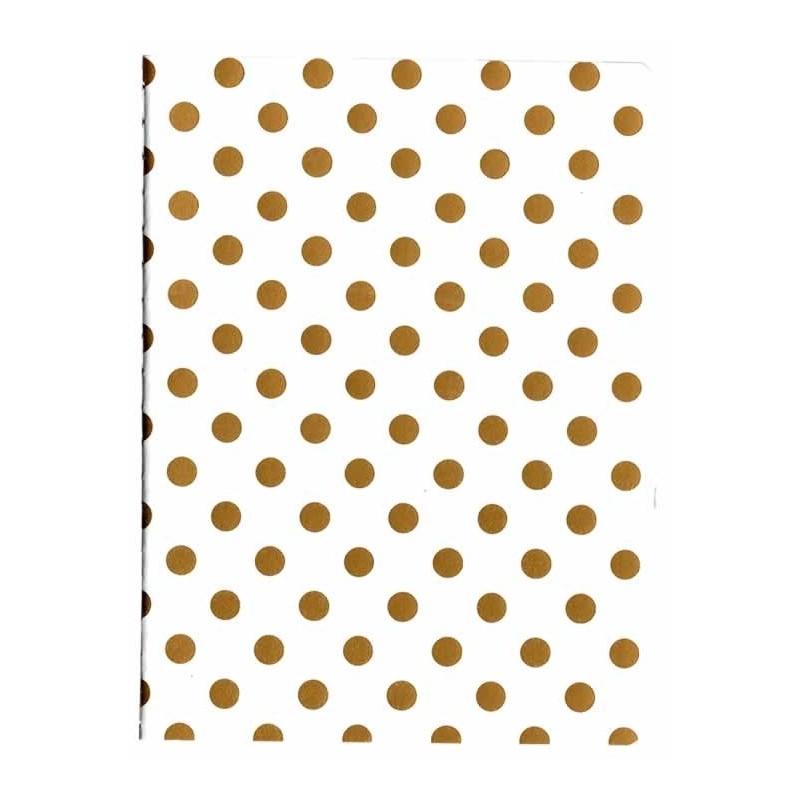 Libreta para midori notebook blanca lunaes oro