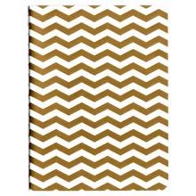 Libreta para midori notebook blanca zig zag oro