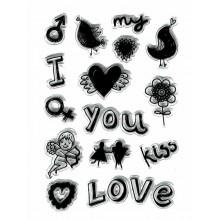 Sello silicona San Valentin I love You
