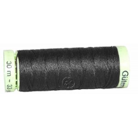 Hilo torzal negro bobina 30 m para coser piel