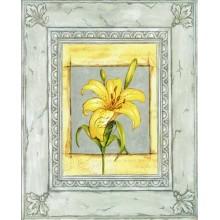 Laminas para cuadros 3D Lirio amarillo