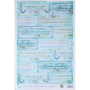 Papel de arroz 35x50cm SEA SIDE TCR 04