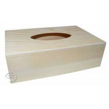 Caja de madera porta servilletas