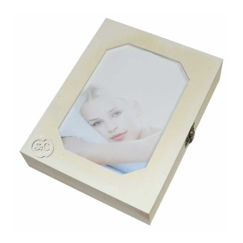 Caja madera joyero portafotos 15 x 20 cm