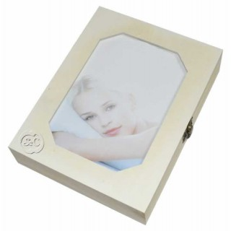 Caja madera joyero portafotos 17 x 22 cm
