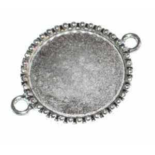 Camafeo plateado 3 cm doble anilla