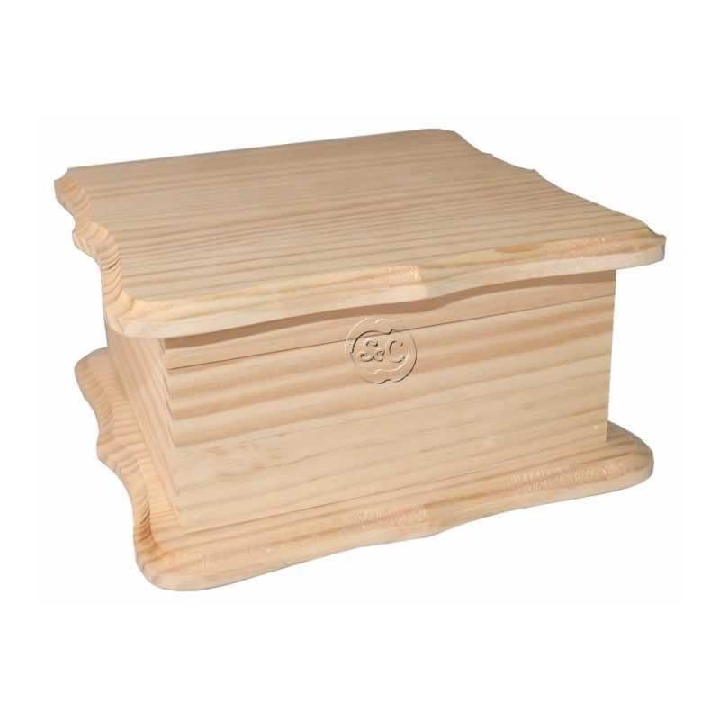 Caja de madera doble ondas 15 cm