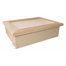 Caja madera pino con marco 7 x 24 cm
