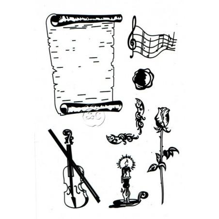 Sello silicona Componer musica