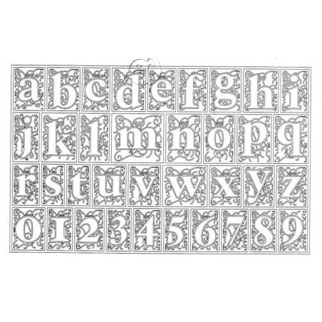 Sello silicona Abecedario ornamento