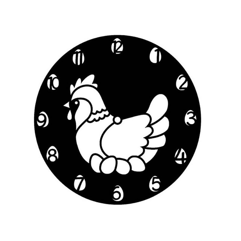 Plantilla reloj gallina 28 cm