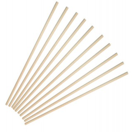 Palo de madera de 30 de de largo, 5 mm 8 unidades