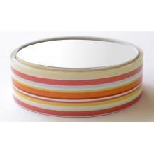 Washi tape satinado rayas rojas amarillas