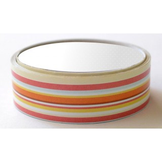 Washi tape satinado rayas rojas amarillas