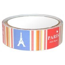 Washi tape satinado Torre Eiffel rayas Paris