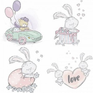 Papel sublimacion 30 x 30 cm Bunnies Love