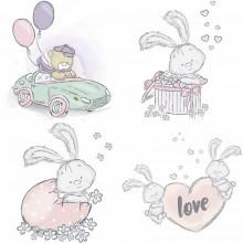 Papel sublimacion 30 x 30 cm Bunnies Love