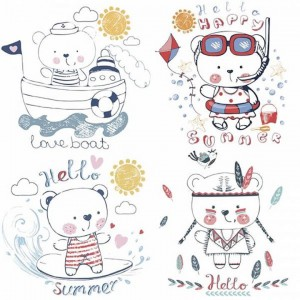 Papel sublimacion 30 x 30 cm Summer Bears