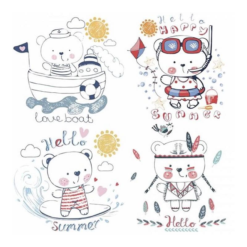 Papel sublimacion 30 x 30 cm Summer Bears