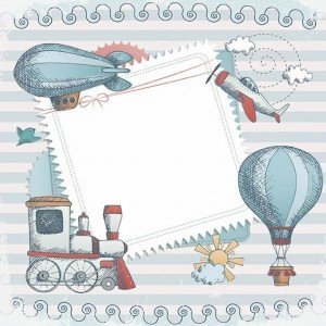 Papel sublimacion 30 x 30 cm Baby Blues Trip